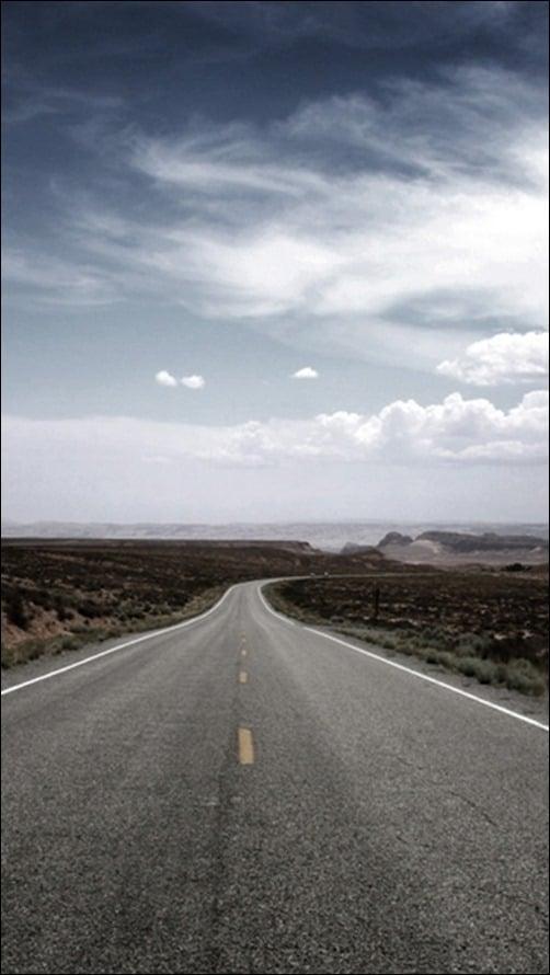 Desert-Road iphone wallpapers