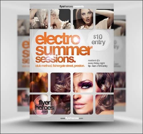 Electro-Summer-Sessions flyer templates