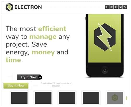Electron-landing-page-templates