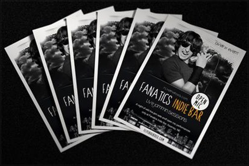 Fanatics-Indie-Bar flyer templates