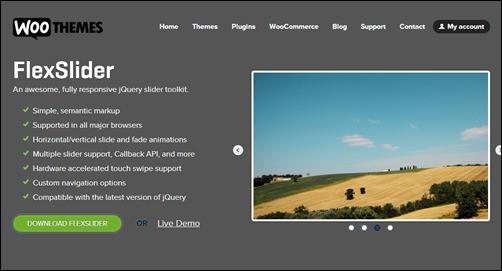 Flexslider jQuery carousel plugin