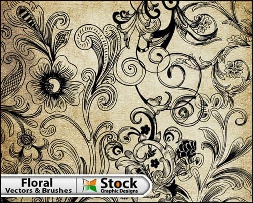 Free-Floral-Vector-&-Brush-Pack-illustrator-brush