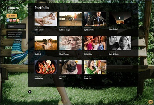 Fullscreen WordPress Photography Themes