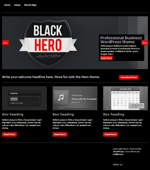 Hero wordpress business themes