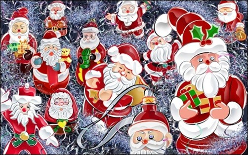 Lots-Of-Santas-Christmas-wallpaper