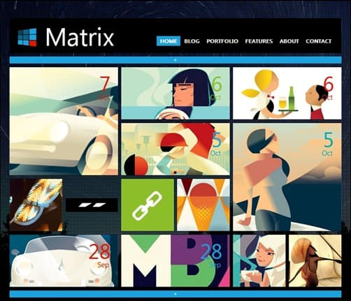 Matrix responsive WordPress theme