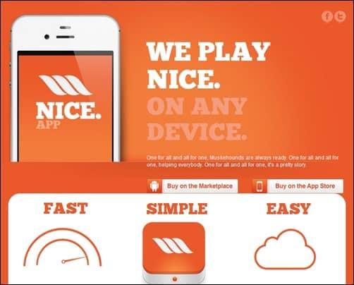 Nice-app-landing-page-templates