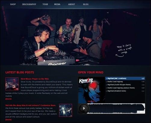 Night-Music wordpress music theme