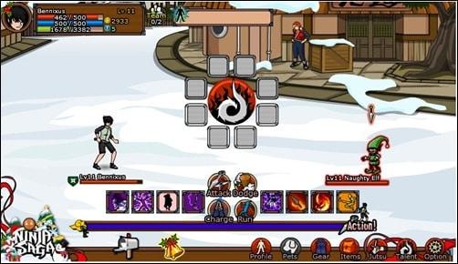 Ninja Saga addictive facebook games