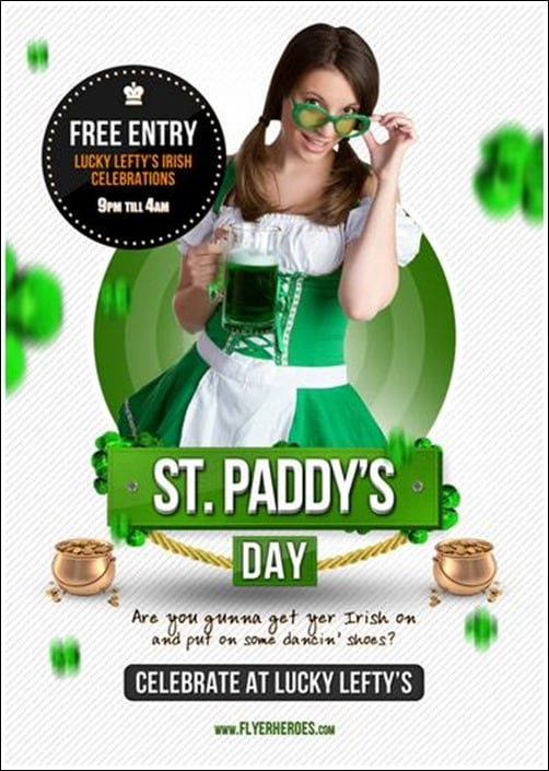 St-Paddy's-Day flyer templates