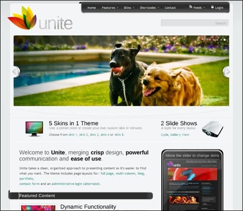 Unite wordpress business themes