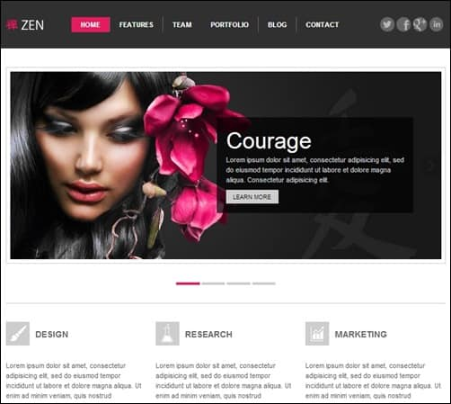 ZEN responsive WordPress theme