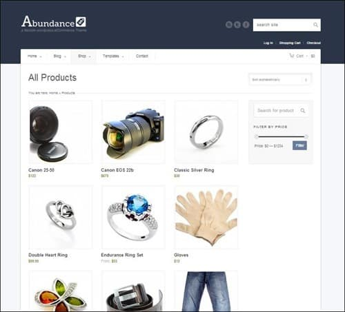 abudance WordPress ecommerce themes