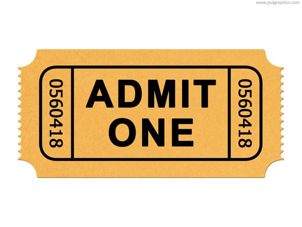 admit one ticket template – Broadway Ticket Template