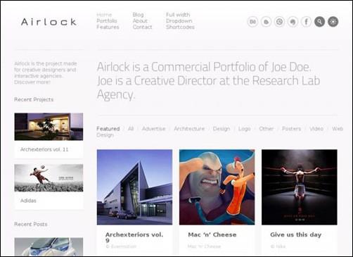 airlock simple wordpress themes
