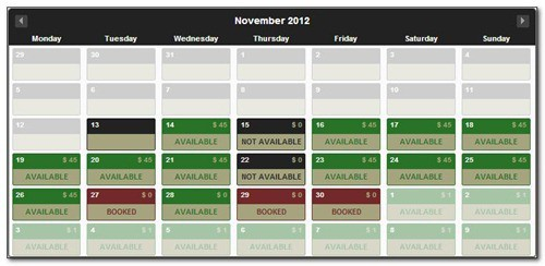 ajax-booking-calendar