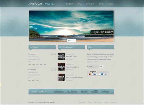 antioch free church wordpress themes