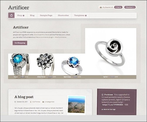 artificer WordPress ecommerce themes