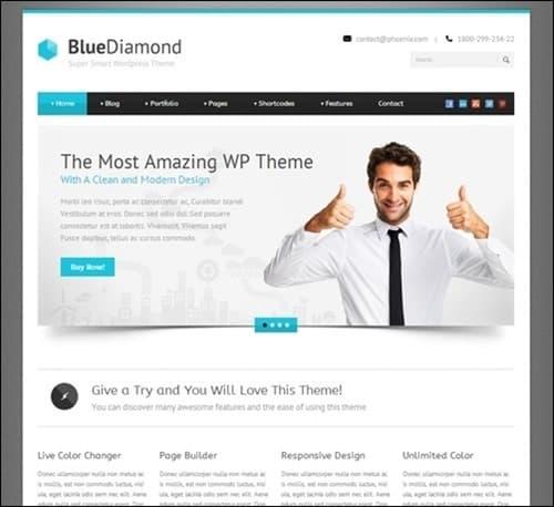 blue-diamond responsive WordPress themes