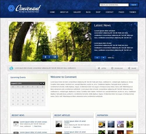 cross website church theme