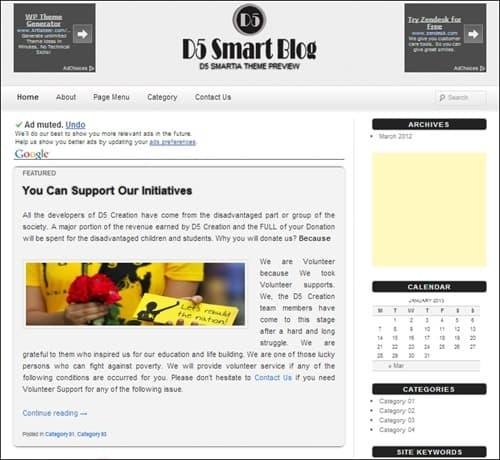 d5-smartia simple wordpress themes