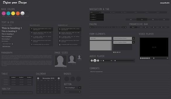 Define Your Design Wireframe Kit
