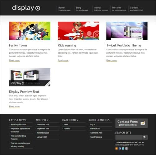 display-wordpress-portfolio-theme