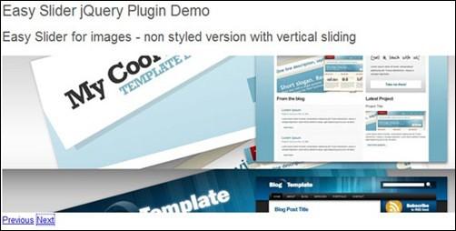 jQuery Image Slider easy-slider