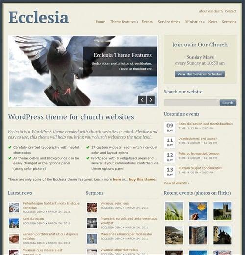 ecclesia Church Website Templates