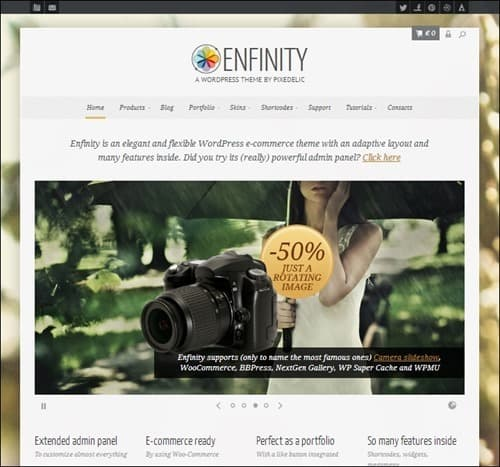 enfinity WordPress ecommerce themes