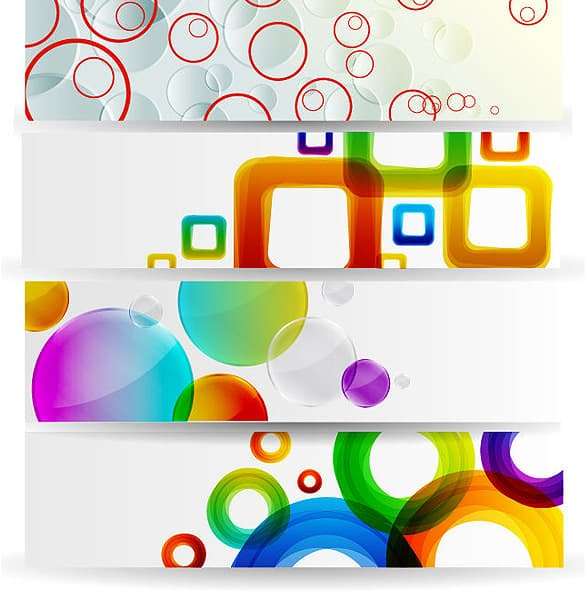 4 Horizontal Vector Banners