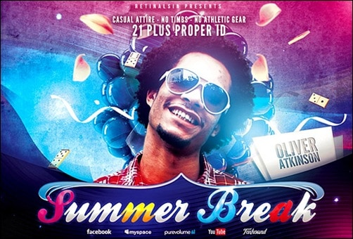summer break flyer templates