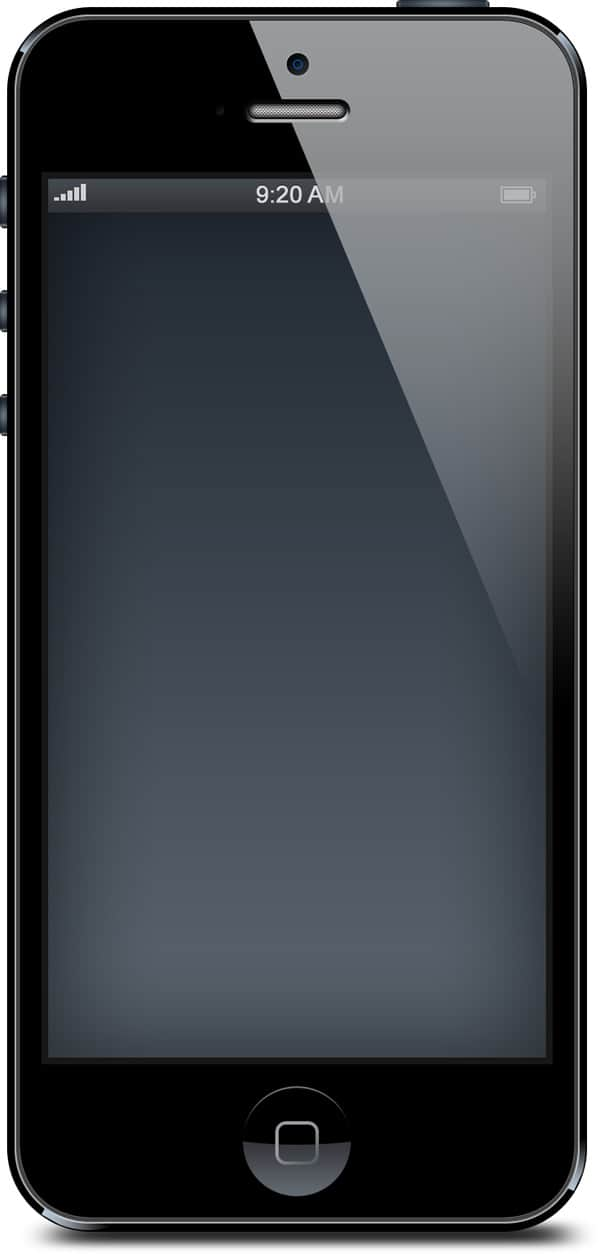 iphone 5 black and white blank templates psd