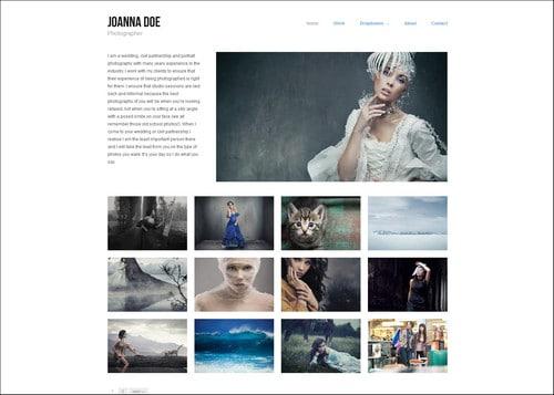 joanne doe portfolio theme