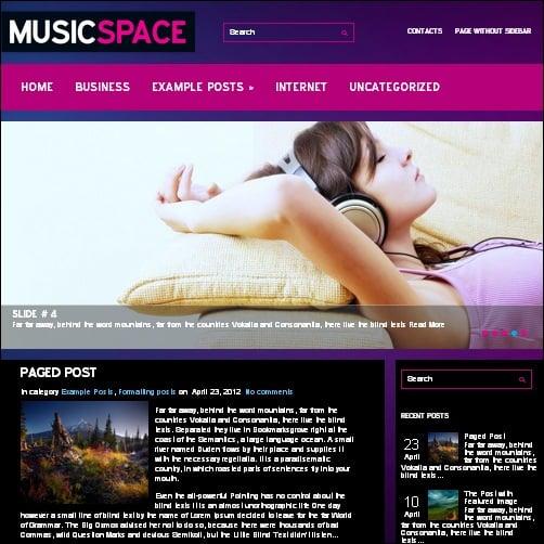 musicspace wordpress music theme