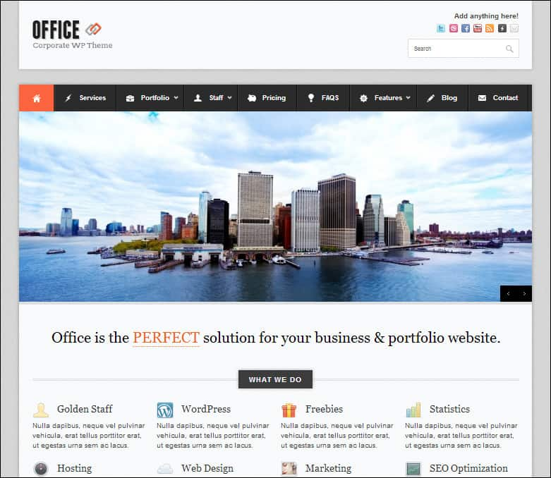 office wordpress business theme