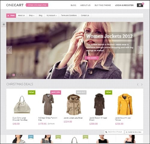 onecart WordPress ecommerce themes