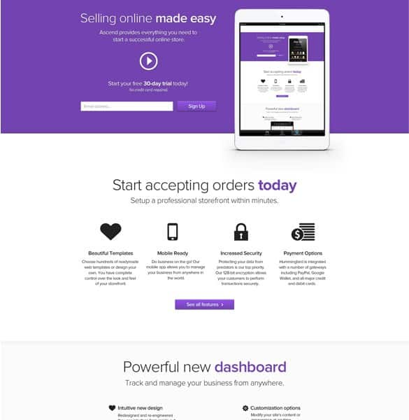Showy Ecommerce Website Template PSD