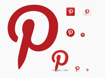 Pinterest icons set