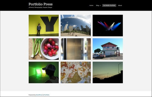 portfolio press photography website templates