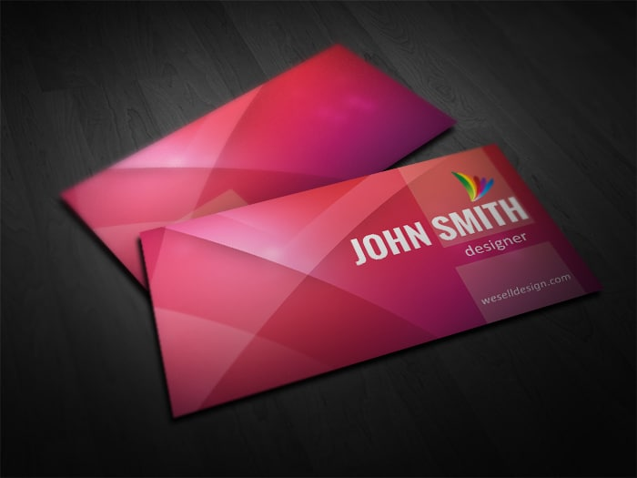 Free red business card template fbccfo Choice Image