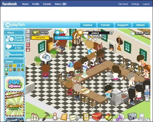 restaurant-city addictive facebook games