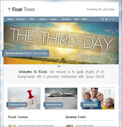 risen church templates - Free Church Website Templates