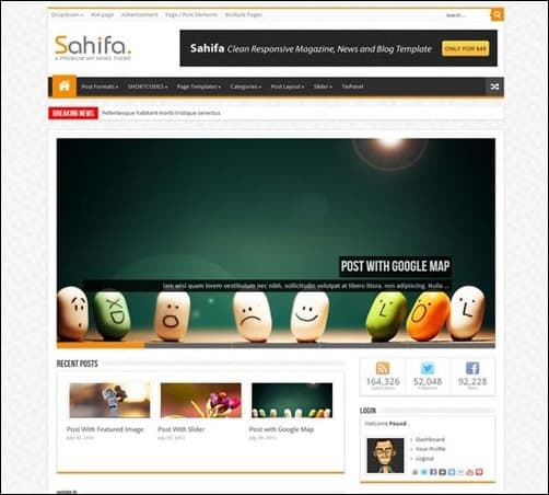 sahifa wordpress business themes