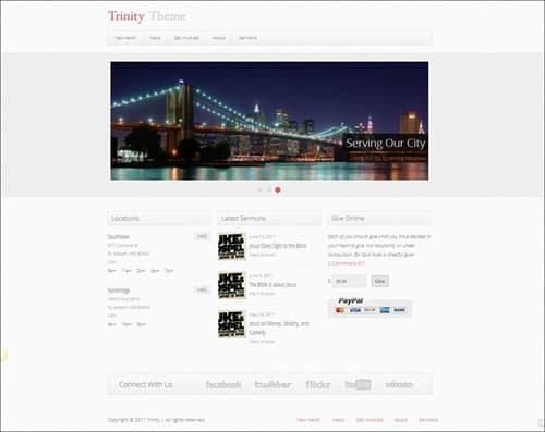 trinity Free Church Website Templates