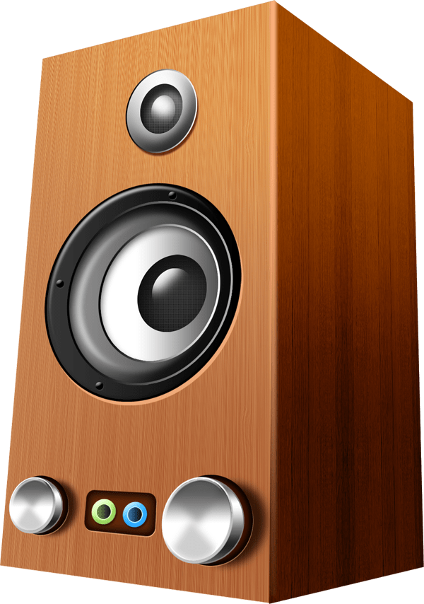 Wooden speakers PSD & icons
