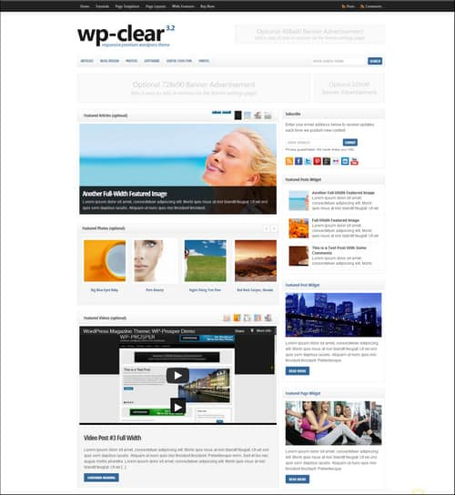 wp clear simple wordpress themes
