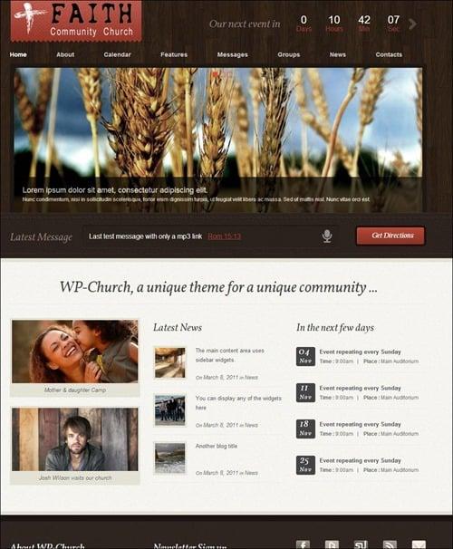 wp church wordpress theme