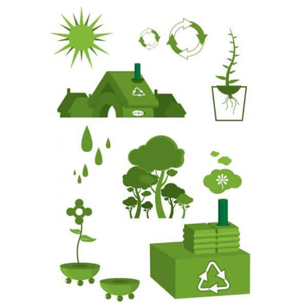 Eco Green Save the Earth Vector