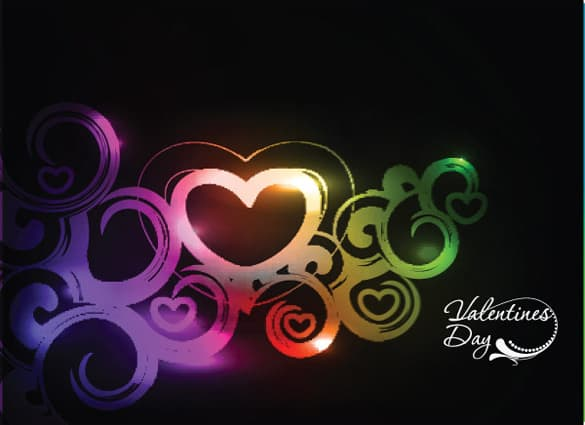 Vivid Colors Heart Abstract Vector